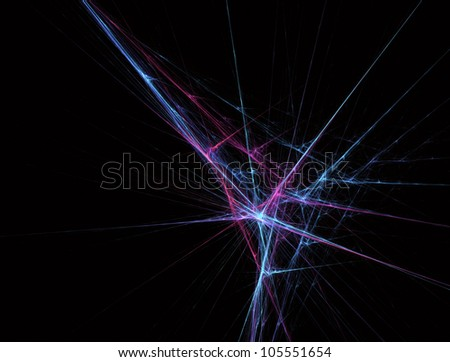 Bright blue beams. Digital generated this image - stock photo