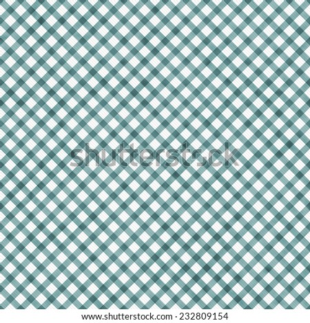 Bright Blue Gingham Pattern Repeat Background that is seamless and repeats - stock photo