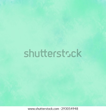 bright blue green background, vintage color and sponged distressed texture in soft blended brush strokes  - stock photo