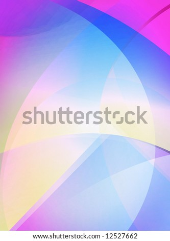 Bright blue purple and white abstract