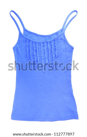 bright blue singlet isolated on white