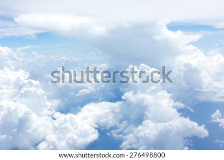 Bright blue skies - stock photo