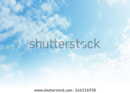 Bright blue skies and bright sun - stock photo