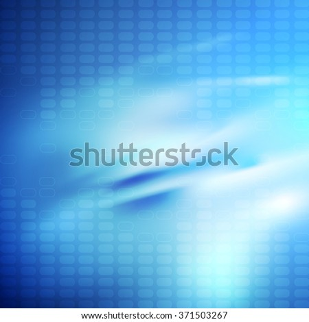 Bright blue smooth glossy tech background
