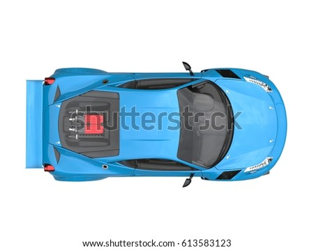 Blue Car Sport Top View Stock Images Royalty Free Images