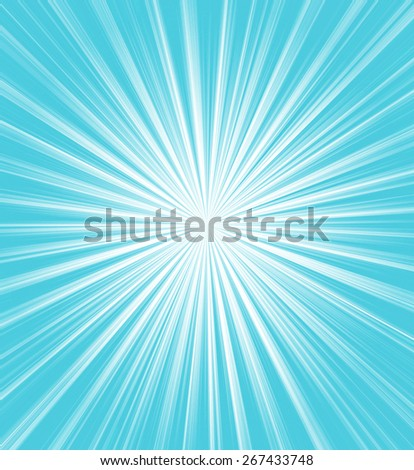 Bright blue starburst - stock photo