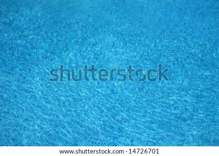 Bright Blue Swimming Pool Water - stock photo
