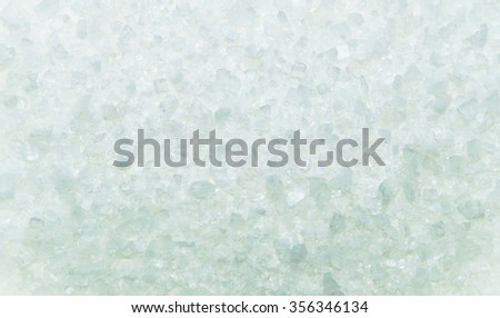 Bright blue texture small crystals. The texture of salt, ice. Closeup - stock photo