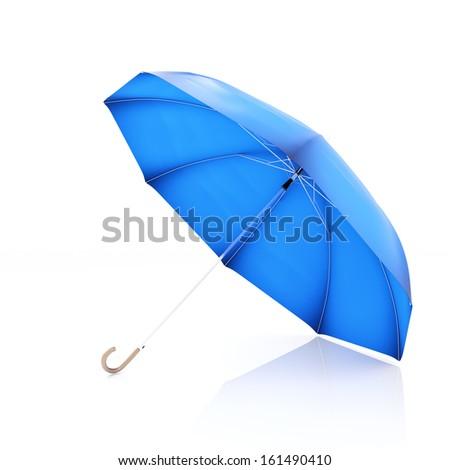Bright Blue Umbrella - stock photo