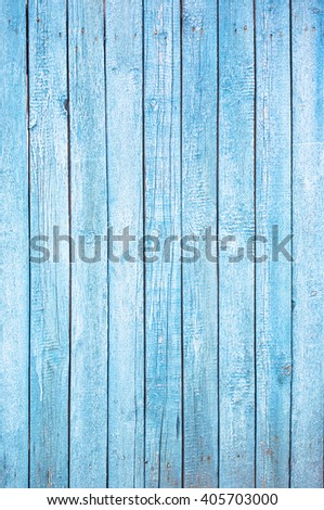 Bright blue wooden plank background, vintage and retro - stock photo