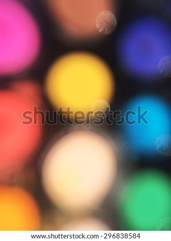 Bright Blurred Colorful Lights - stock photo