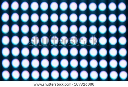 Bright Blurred spots of light close look - stock photo