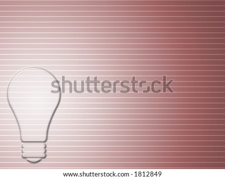 bright bulb background - stock photo