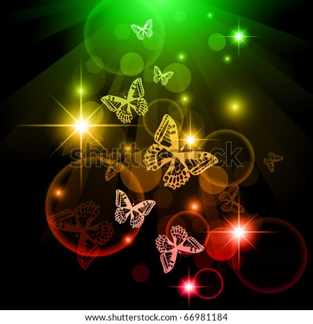 Bright butterfly background