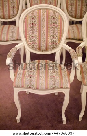 bright chairs in the art Nouveau style