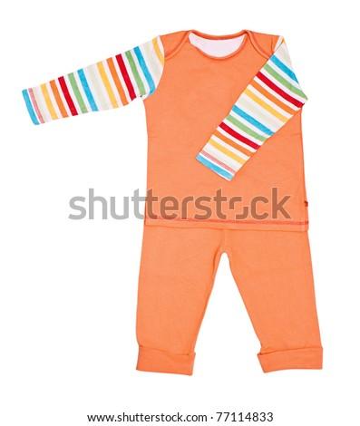 Bright children's pajamas - stock photo