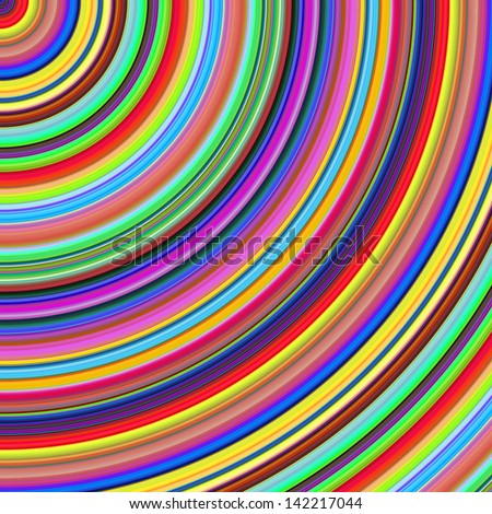 Bright color semicircles abstract illustration. - stock photo