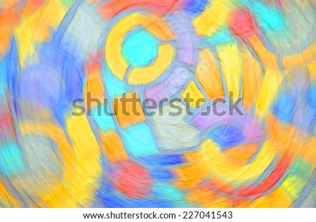 bright colored blur abstract geometric background