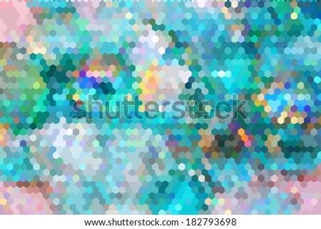 bright colored mosaic. honeycomb. Raster - stock photo