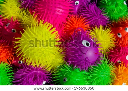 Bright colored toy background - stock photo
