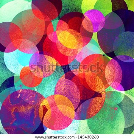 bright colored watercolor circles on a dark background - stock photo