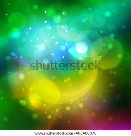 Bright Colorful Abstract Bokeh Background ,  Defocused Lights - stock photo