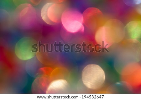 bright colorful abstract bokeh circles