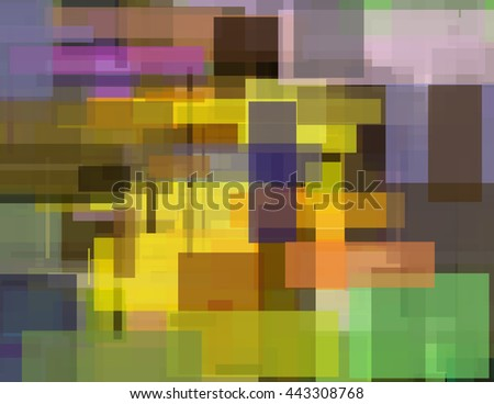 Bright Colorful Abstract Geometric Painting - stock photo