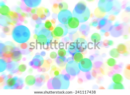 Bright colorful and cheerful bokeh abstract for celebratory children's cards - stock photo