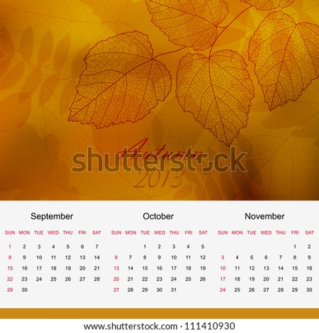 Bright colorful autumn leaves raster version - stock photo