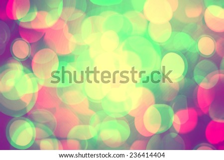 Bright colorful bokeh background for Christmas and New Year. - stock photo