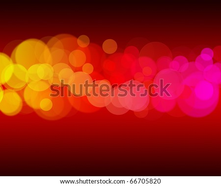 Bright colorful de focused lights at night. With depth of field selective focus. - stock photo