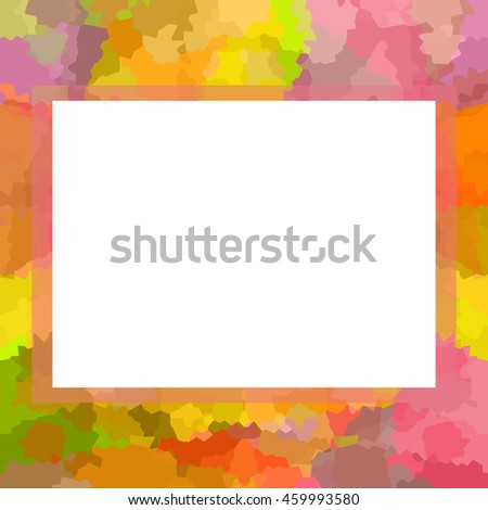 Bright colorful photo frame - stock photo