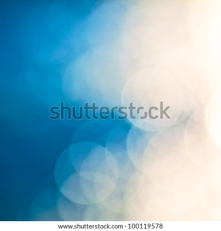 bright colorful sun and sea bokeh background - stock photo