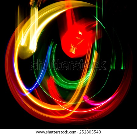 Bright Colors Abstract Drawing  - stock photo