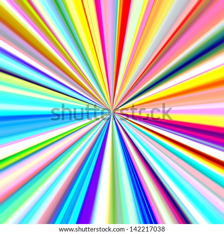 Bright colors pinpoint explosion illustration. - stock photo