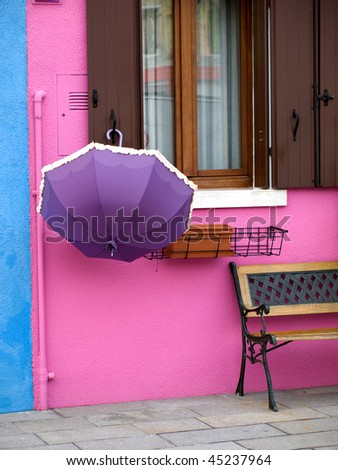 Bright colours of Burano's houses, Venice, Italy