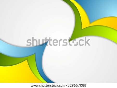 Bright corporate abstract contrast wavy background - stock photo