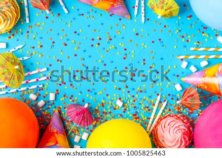 Bright Decor Birthday Party Festival Carnival Stock Photo Royalty
