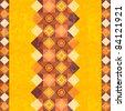 Bright decorative patchwork background with folk motifs - stock photo