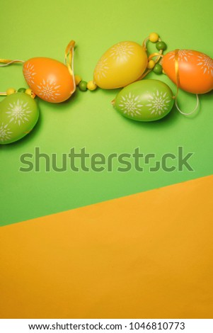 Bright Easter Eggs With Floral Pattern
