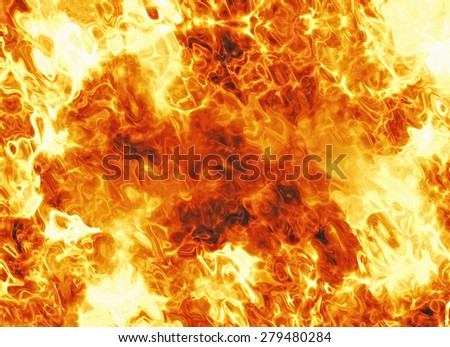 bright explosion fire burst backgrounds. body of flame texture - stock photo