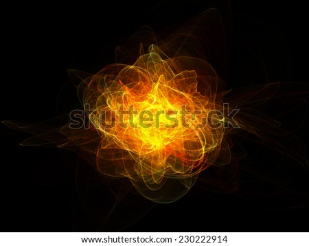 bright explosion on black background