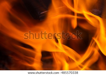 Bright fire background