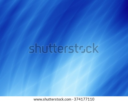 Bright flow magic abstract energy blue sky background - stock photo