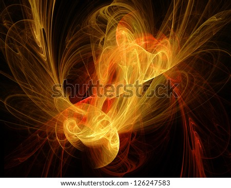 Bright fractal background