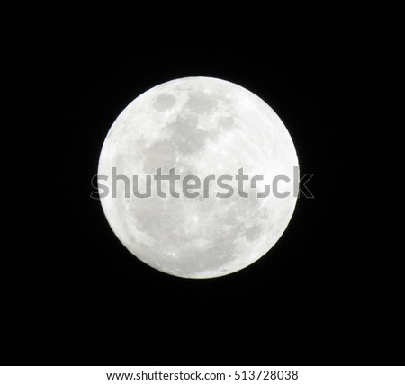 Bright Full moon in its form with the night sky