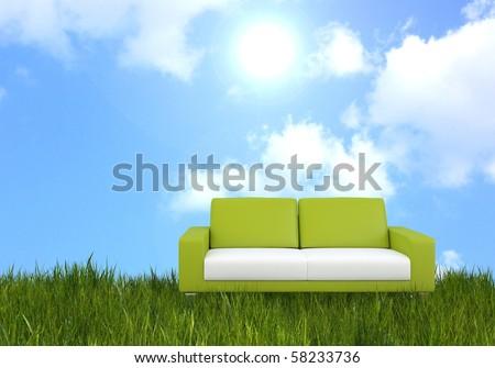 bright furniture concept - stock photo