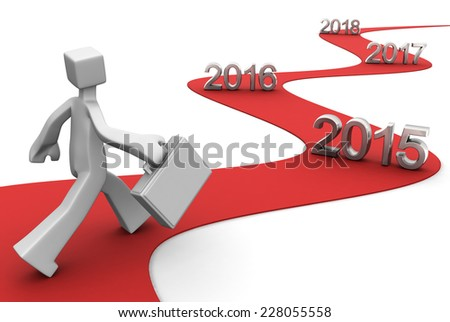 Bright future success concept 2015 3d illustration - stock photo