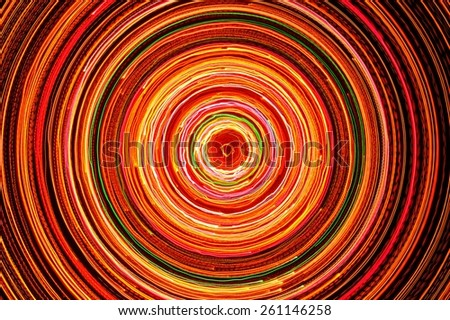 Bright Glowing Electric Circle  - stock photo